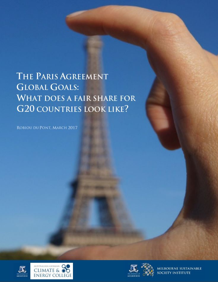 The Paris Agreement global goals: What does a fair share for G20 countries look like?
